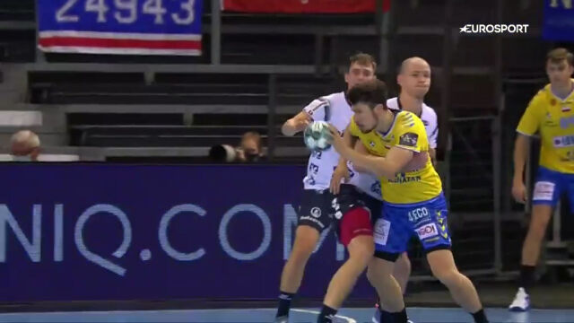 Skrót meczu SG Flensburg-Handewitt - Łomża VIVE Kielce w 1. kolejce Ligi Mistrzów w piłce ręcznej