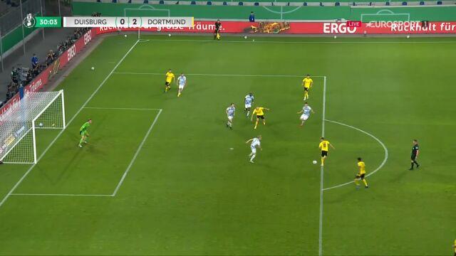 Puchar Niemiec. Duisburg - Borussia Dortmund 0:2. Gol Jude Bellingham