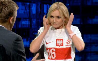 Monika Olejnik w koszulce kapitana reprezentacji