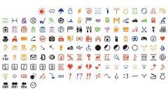 Stworzony w 1999 roku przez japońskiego programistę pierwszy set emoji.