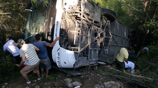 Autokar z Polakami spadł ze skarpy w Turcji. Trzy osoby pozostają w szpitalu