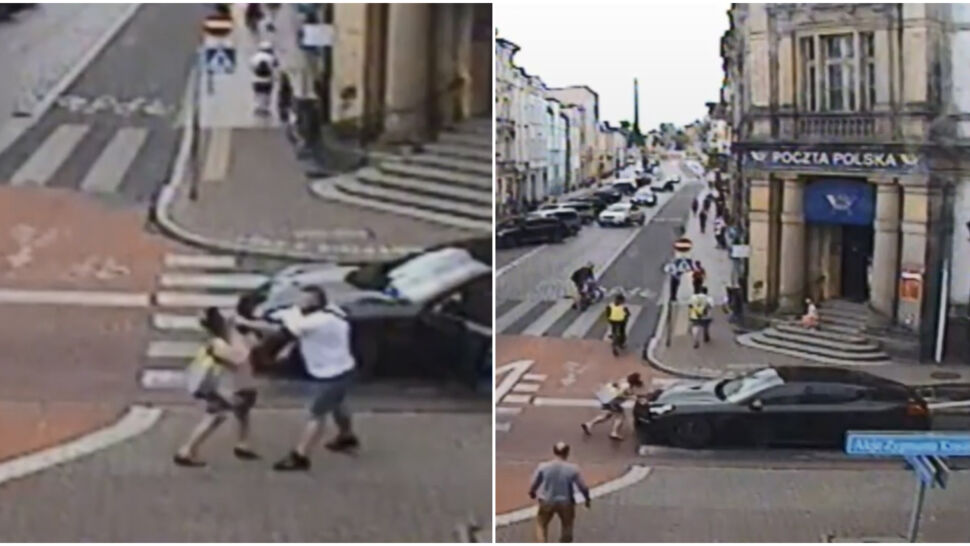 Wysiada i uderza kobietę w twarz, a potem próbuje rozjechać. Policja błędnie wytypowała kierowcę