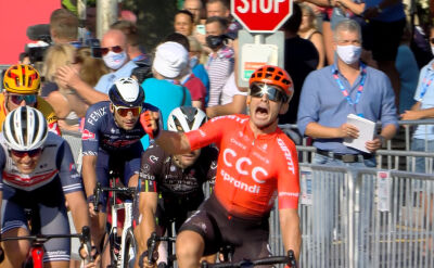 Mareczko wygrał 2. etap Tour de Hongrie, kraksa na ostatnim kilometrze