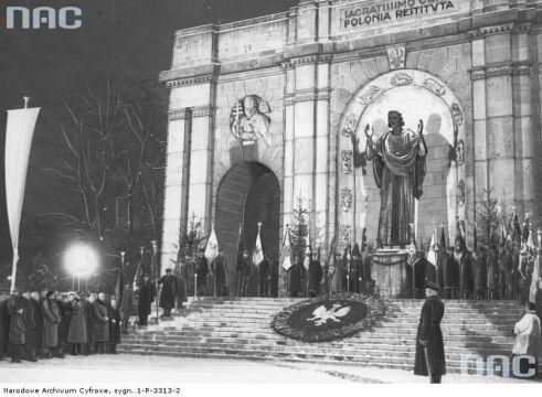 Obchody rocznicy powstania wielkopolskiego w Poznaniu w 1937r.