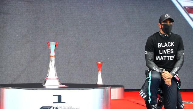 Temat rasizmu został rozdmuchany? Hamilton prostuje legendy Formuły 1
