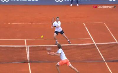 Świetna akcja przy siatce w meczu Zvereva z Rublowem w Adria Tour