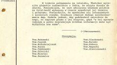 Szyfrogram z Ambasady PRL w Londynie z o wylocie premier Thatcher do Polski, 2 listopada 1988 r. (AMSZ).