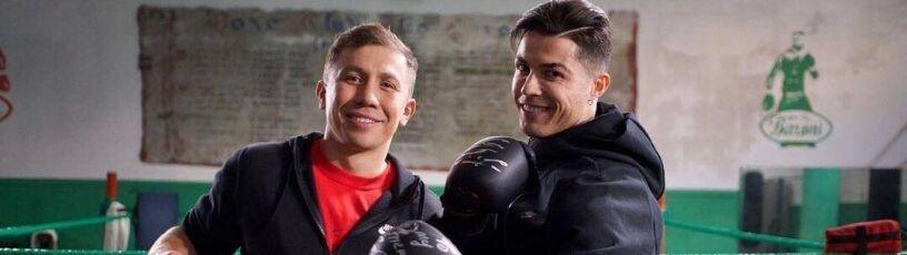 Niespodziewane spotkanie w Turynie. Ronaldo na ringu z Gołowkinem