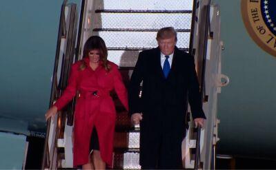Donald Trump przybył do Londynu na szczyt NATO
