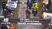 Przejazd przez Las Arenberg podczas Paryż – Roubaix 2021
