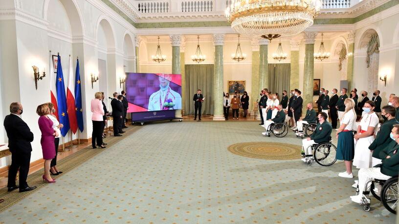 Prezydent Duda odznaczył medalistów paraolimpijskich z Tokio
