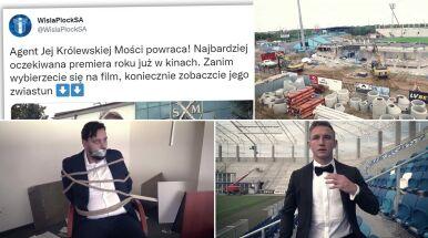 Jakub Rzeźniczak jako James Bond. Najnowszy spot Wisły Płock