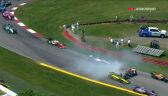 Kraksa Powera i Jonesa na 4. okrążeniu wyścigu Indy 200 na Mid-Ohio