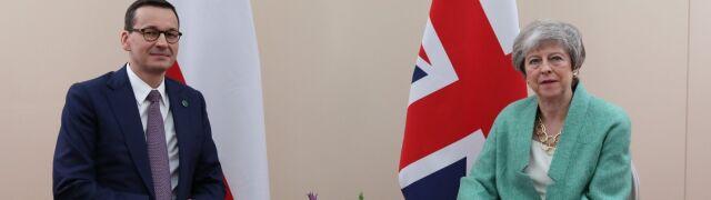 Premier Mateusz Morawiecki spotkał się z szefową brytyjskiego rządu