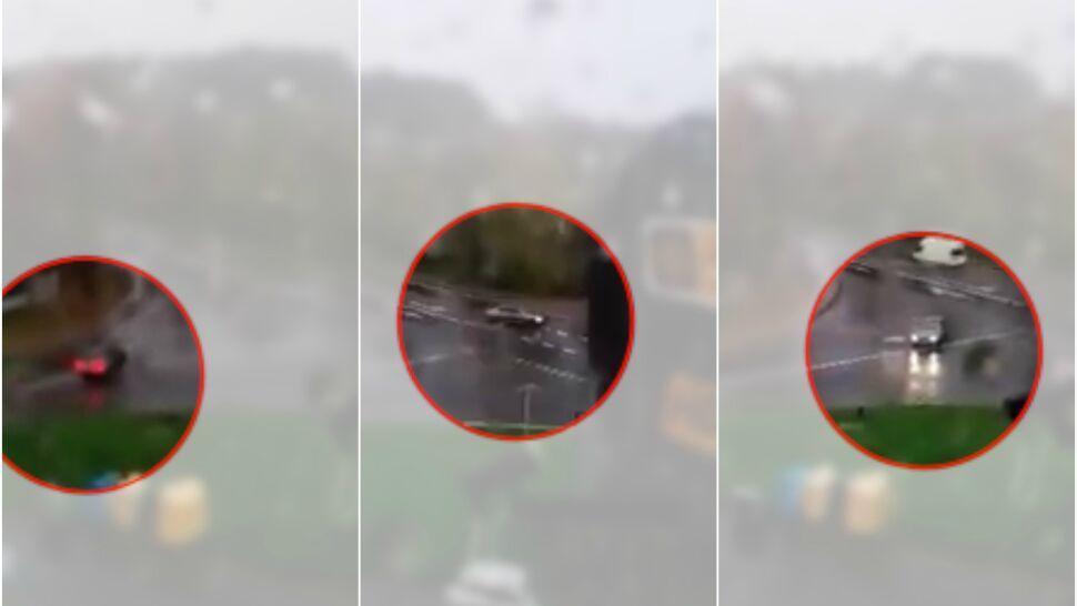 Szalał cyklon, a on kręcił bączki na środku skrzyżowania. Szuka go policja