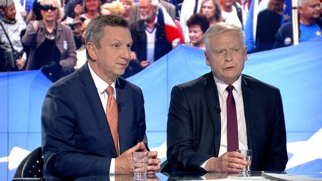 """Andrzej Halicki i Aleksander Bobko w """"Faktach po Faktach"""""""