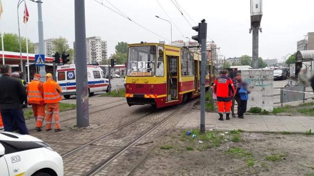 Wykoleił się tramwaj. Pięć osób rannych