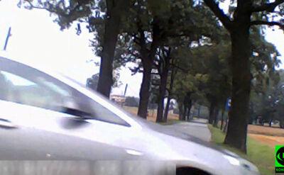 Wyjechał tuż przed maskę samochodu Reporterki 24