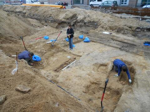 Prace archeologiczne przy ul. Towarowej