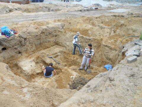 Szczątki pochodzą z dawnego cmentarza parafii pw. Św. Marcina