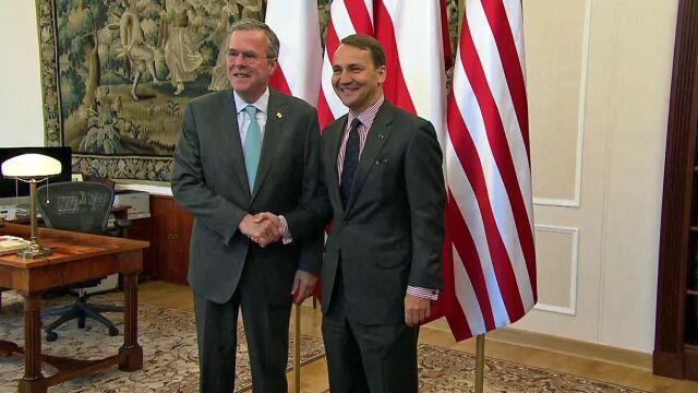 Jeb Bush w Warszawie. Najpierw spotkanie z Sikorskim