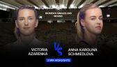 Skrót meczu Azarenka - Schmiedlova w 2. rundzie Roland Garros