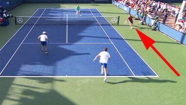 Niesamowita akcja w US Open. Obiegł siatkę i sprytnie wykorzystał przepisy
