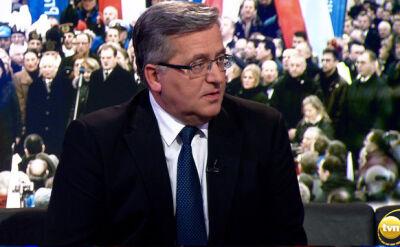 Komorowski: Kaczyński nie potrafi przegrywać, nie umie też wygrywać z klasą
