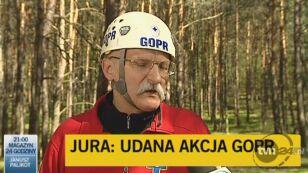 Piotr Van der Coghen o akcji ratowników (TVN24)