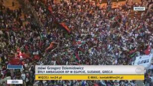 Grzegorz Dziemidowicz, były ambasador Polski w krajach arabskich o sytuacji w Libii (TVN24)