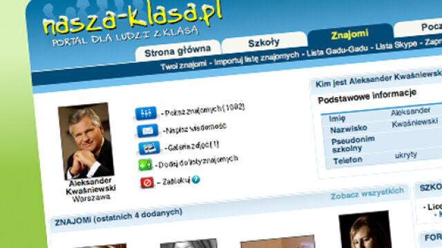 Kwaśniewski: to ja mam profil na Naszej Klasie?