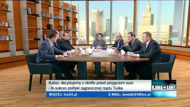 Hofman i Szejnfeld spierali się o wizję Europy (TVN24)