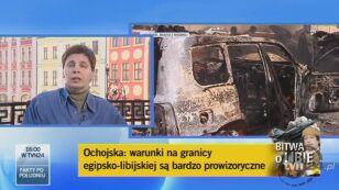 Janina Ochojska o organizowanej przez PAH pomocy dla ofiar kryzysu w Libii (TVN24)