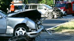 Zderzenie dwóch aut. Sześć osób zostało rannych
