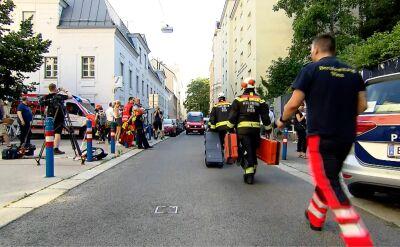 Na miejscu katastrofy budowlanej pracują ratownicy