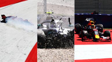 Widowiskowe kraksy na drugim treningu przed Grand Prix Austrii. Tor dał się kierowcom we znaki