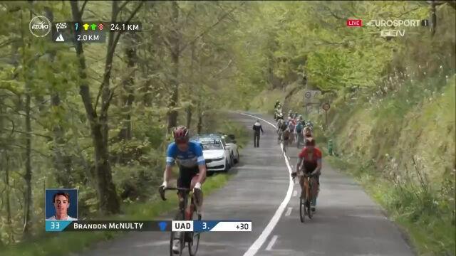 Atak McNulty'ego na 24 km do mety 4. etap Wyścigu dookoła Kraju Basków