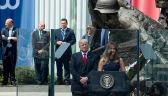 Donald Trump przmawia na placu Krasińskich