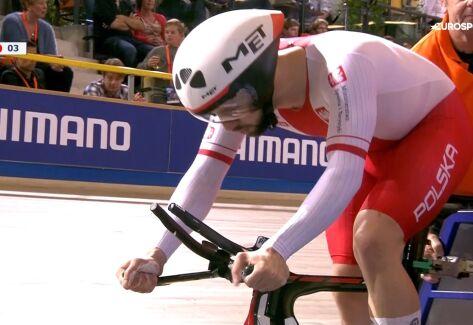 Maksel siódmy w wyścigu na 1 km, Lafargue mistrzem Europy