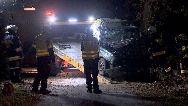 Wypadek pod Kłodzkiem. 15-letni kierowca i 17-letni pasażer nie żyją