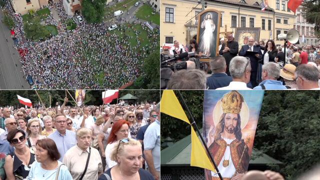 """Wiec poparcia dla arcybiskupa Jędraszewskiego. """"Reakcja na falę nienawiści"""""""