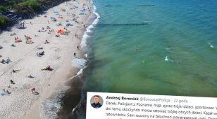 Policjant skoczył do Bałtyku ratować tonące dzieci.