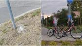 Nastolatki zastawiły pułapkę na rowerzystów