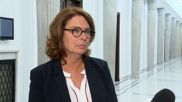 Małgorzata Kidawa-Błońska o kandydaturze Elżbiety Witek na stanowisko marszałka Sejmu