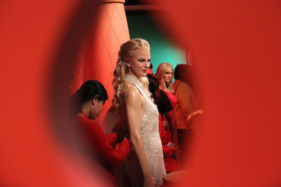 Figura woskowa Nicole Kidman w muzeum Madame Tussauds w New Delhi, Indie