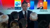 Całe wystąpienie Adama Jarubasa po ogłoszeniu sondażowych wyników wyborów