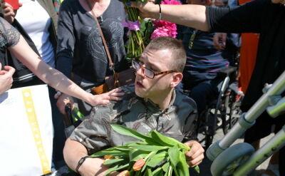 Dawid Stanewicz podziękował za wsparcie w czasie protestu
