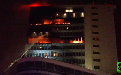 Pożar hotelu w Dublinie. W ogniu kilka pięter