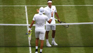 Dostał lekcję tenisa od Federera.