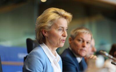 Von der Leyen podcza sesja pytań i odpowiedzi w Parlamencie Europejskim